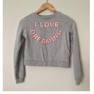 H&M crew neck sweatshirt I love dreaming 10/12